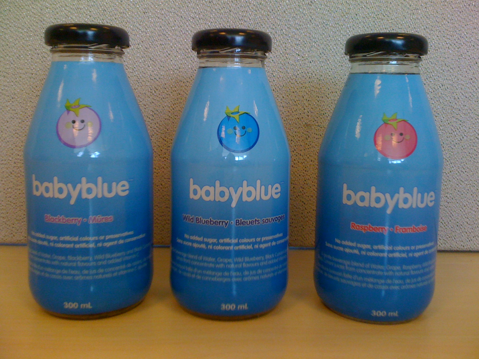 babyblue shrink labels
